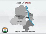 Delhi Maps Powerpoint Template