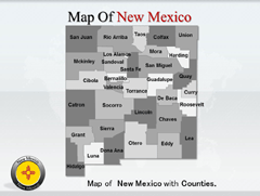 New Mexico PowerPoint map