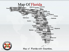 Florida powerpoint map