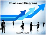 Arrow Ramp Chart PowerPoint Template