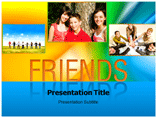 Friends Circle PowerPoint template