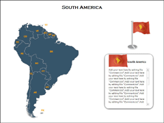 South America Maps(XML) PowerPoint map