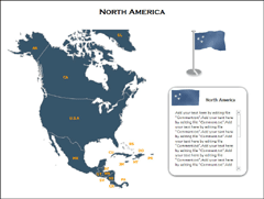 North America Maps(XML) PowerPoint map