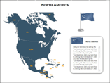 North America XML Map Powerpoint Template