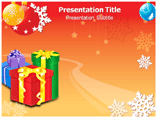 Christmas Gift Box Sets powerpoint template