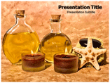 Oil Bottle  PowerPoint Template for Presentation