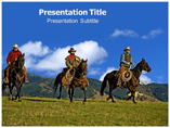 Cowboy Western PowerPoint Template for Presentation