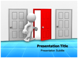 Open Door House  PowerPoint Template & Designs