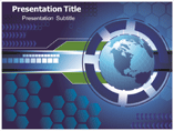 Globe Agenda Diagram  PowerPoint Template