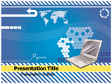 Digital Laptop PowerPoint Template