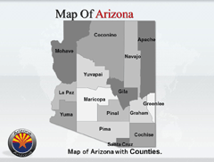 Arizona PowerPoint map