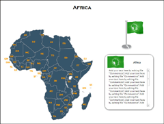 Africa Maps(XML) PowerPoint map