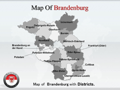 Brandenburg PowerPoint map