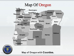 Oregon PowerPoint map
