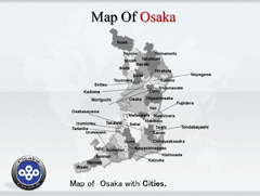 Osaka PowerPoint map