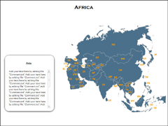 Asia Maps(XML) PowerPoint map