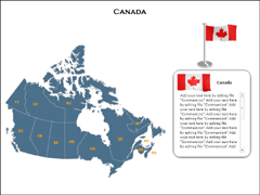 Canada Maps(XML) PowerPoint map