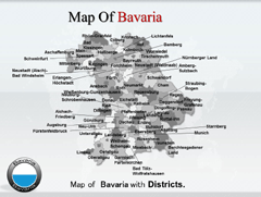 Bavaria PowerPoint map