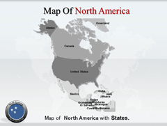 North America PowerPoint map