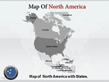 North America Maps Powerpoint Template