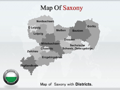 Saxony PowerPoint map
