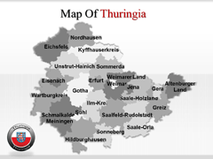 Thuringe powerpoint map