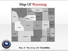 Wyoming PowerPoint map