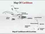 Caribbean Map Powerpoint Template