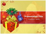 Christmas Box Angel- Powerpoint Templates