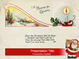 Free PPT Templates Download Christmas Card