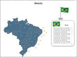 Brazil Map (XML) PowerPoint Templates