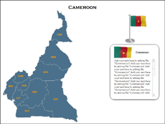 Cameroon  (XML) PowerPoint map