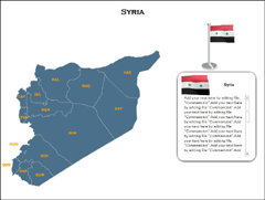 Syria  (XML) PowerPoint map