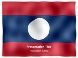 Laos animated PowerPoint Flag