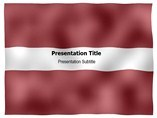 Latvia animated PowerPoint Flag