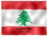 Lebanon animated PowerPoint Flag