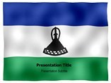 Lesotho animated PowerPoint Flag