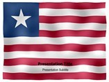 Liberia animated PowerPoint Flag