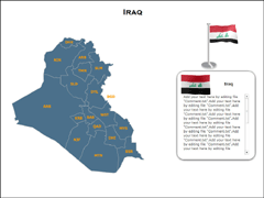 Iraq Map (XML) powerpoint map