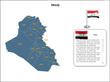 Iraq Map XML Powerpoint Templates