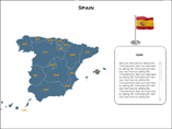 Spain Map XML Powerpoint Templates