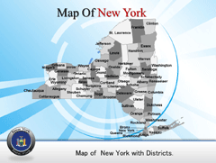 New York PowerPoint map