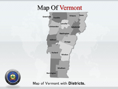 Detailed  Of Vermont map