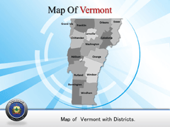 Vermont PowerPoint map
