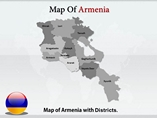 Armenie map Powerpoint Templates