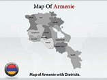 Armenie Political Map  Powerpoint Templates