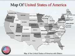 USA  With States powerpoint map
