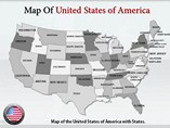 USA Map With States Powerpoint Template