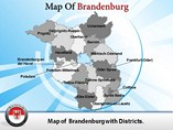 Brandenburg Map Layout PowerPoint Templates