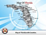 Florida Map Directions PowerPoint Templates